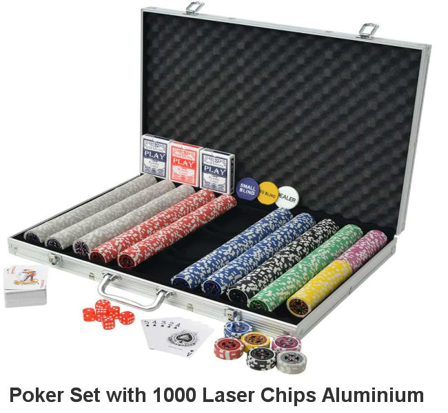 1000 Laser Chips Pro-Poker Set